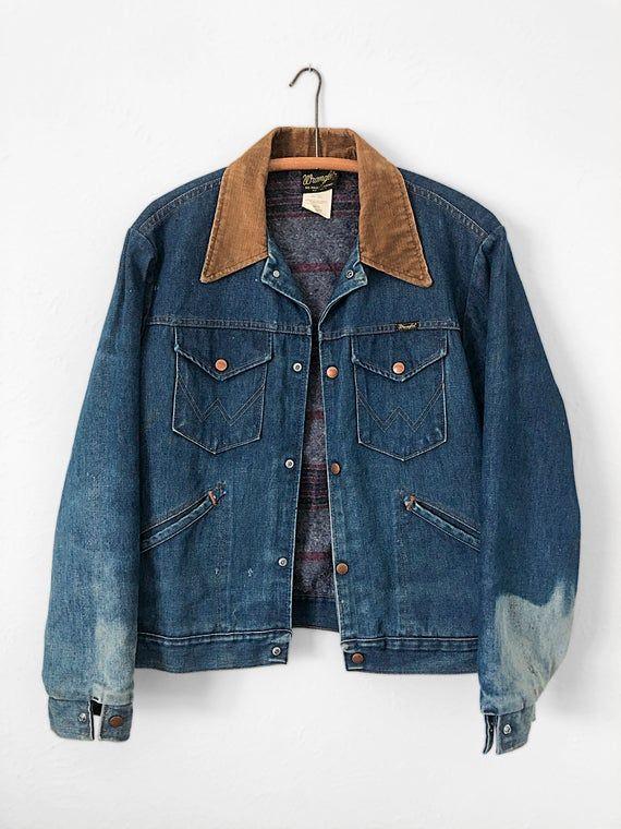 Vintage Wrangler Denim Jacket Blanket Lined Denim Jacket Vintage Denim Jacket Mens L Xl Vintage Denim Jacket Lined Denim Jacket Womens Silk Blouses