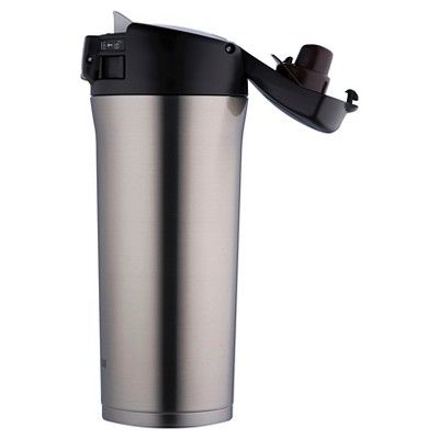 Zojirushi 16oz Stainless Steel Vacuum Insulated Travel Mug with SlickSteel Interior - Silver, Stainles Steel
