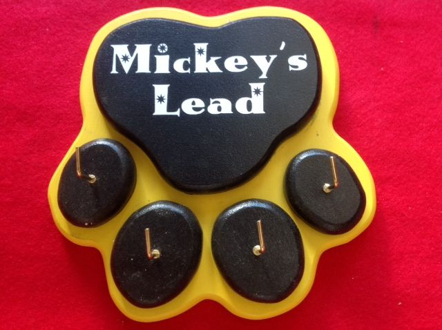 Dog Lead Hook or Key Hook. Size 190x190mm and about 24mm thick. Personalised to your Pets Name ( or your Husband's name if its for him! lol ) $39.50 FREE Postage within Australia