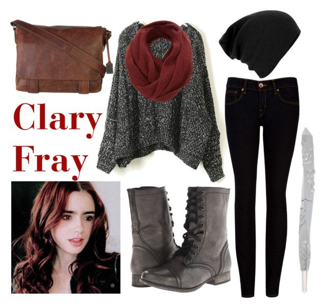 """""""Clary Fray"""" by theimpossiblegirl6 ❤ liked on Polyvore featuring SELECTED, Ted Baker, Steve Madden and Frye"""