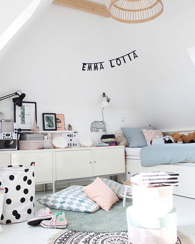 Sunny girlsroom # emmalottalife # brittabloggt # brittashome # kidsroom # girlsroom # solebich # pastell