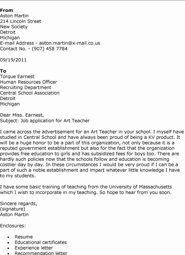 Letter Of Interest Teacher Lovely 11 12 Sample Letter Of Interest For A Teaching J Application Letter For Teacher Teacher Cover Letter Example Job Cover Letter
