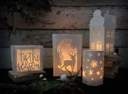 "Festive Papercut Lantern Workshop in Wolverhampton. ""A fun, creative , inspiring course. A great starting point for paper cutting which I will definitely continue with."""