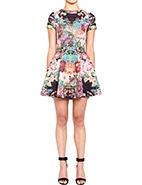Nicholas Tapestry Print S/S Scuba Skater Dress #davidjones #racewear #nicholas #autumnwinter2013