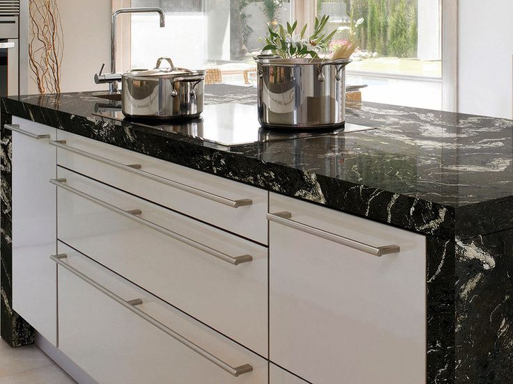 Las 25 mejores ideas sobre cocina de granito negro en for Granitos en cocinas