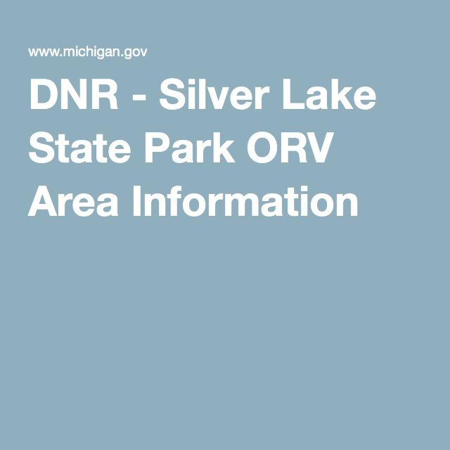 DNR - Silver Lake State Park ORV Area Information