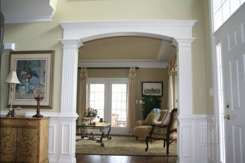 Wainscot crown arch trim molding wainscoting for Decorative archway mouldings