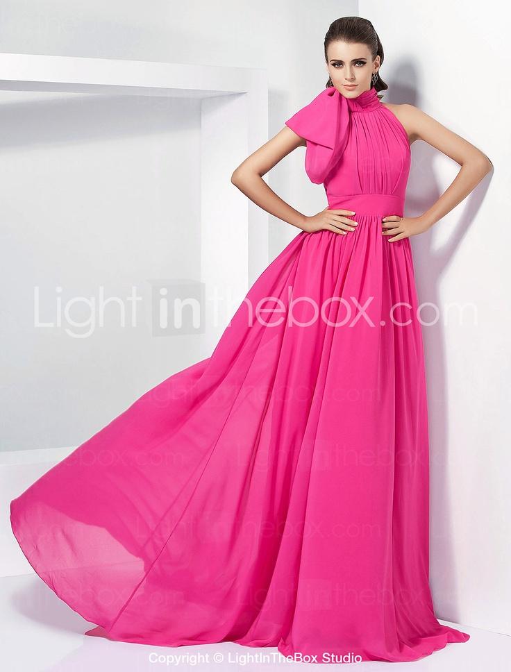 copiar idea cuello LALLIE - Vestido de Noche de Gasa - EUR € 148.49