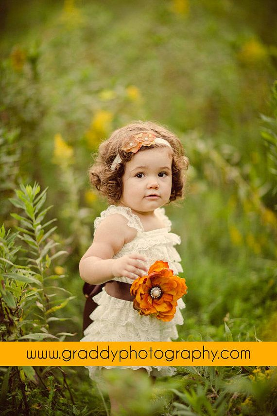 Fall Lace ruffle romper.. matching is available. Avry Couture Creation $24.95