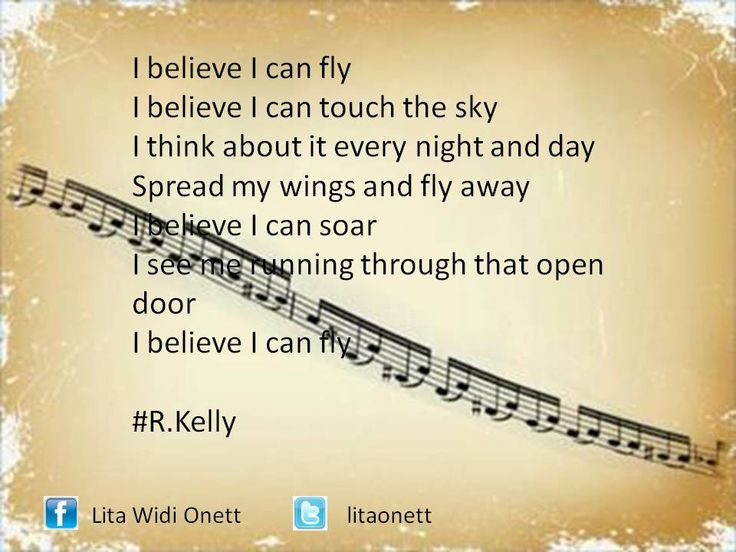 i believe i can fly #R.Kelly