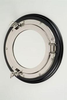 Aluminum Porthole Mirror - Nautical Home - Detail