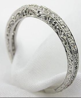 This vintage wedding band will match perfectly with my vintage engagement ring (http://www.topazery.com/antique-jewelry-item-rg2807p.htm)