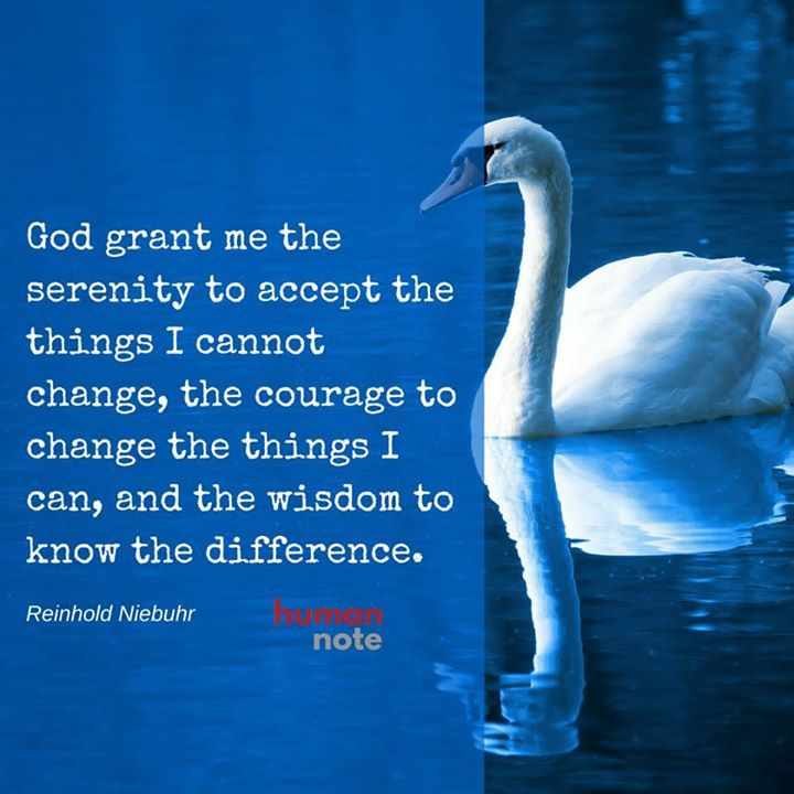 The famous quote on wisdom from Reinhold Niebuhr.
