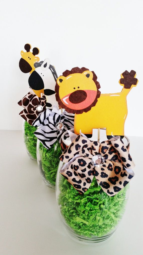 Safari Centerpieces Jungle Animal Table Decorations Mason