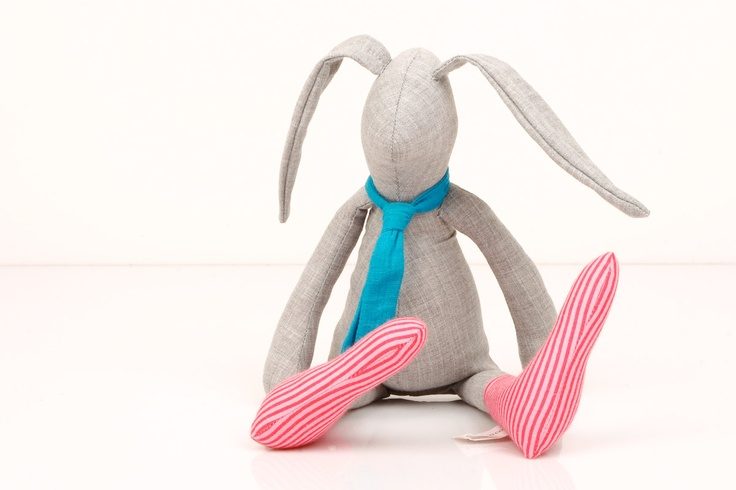: Conejos Tilda, Fabric Doll, Neon Accents, Bellas Tildas, Kids, Gray Rabbit, Neon Pink