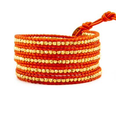 chan luuWraps Bracelets, Channing Luu, Vermeil Wraps, Favorite Colors, Luu Wraps, Chan Luu, Diy Projects, Gold Vermeil, Orange Leather