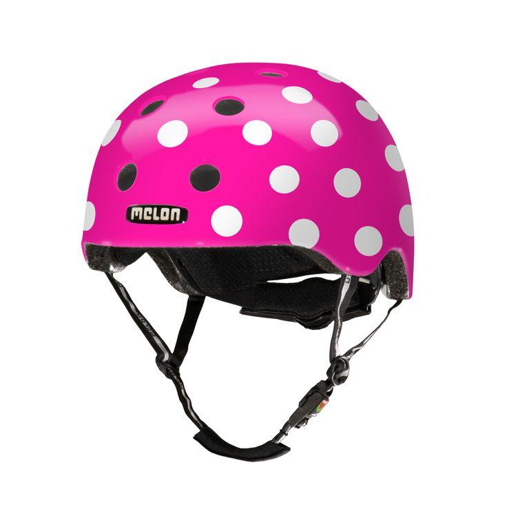 Melon Dotty Pink fietshelm M-L (52-58cm)  Helm Melon Dotty Pink M-L (52-58cm)  EUR 57.95  Meer informatie