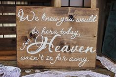 How to honor loved one at wedding who passed away - sign