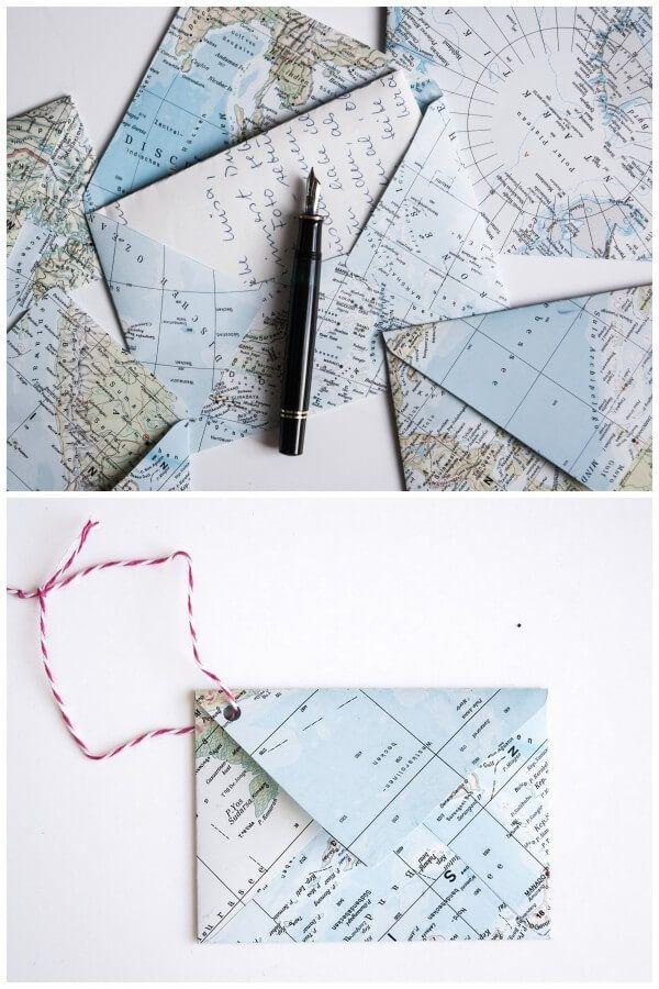 Landkarten-Upcycling