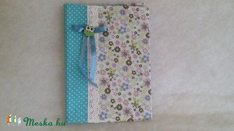 Meska - Kék virágos füzet solba66 kézművestől