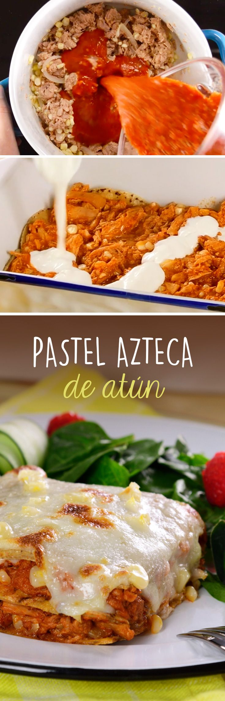 Pastel azteca de atun