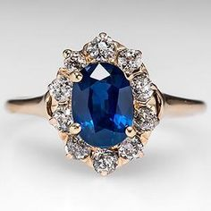 Vintage Sapphire Engagement ring - now THIS is my kind of ring!!! I loveeee itttttt. would want it in 14 or 18k gold though...