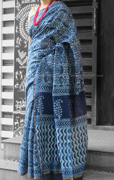 Elegant Chanderi Saree with Block Printing