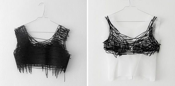 Elvina 't Hart - drawn clothes-wearable drawings collection #art #fashion