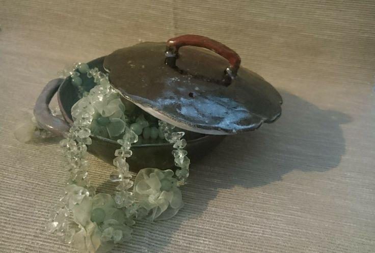Керамическая сковородочка для украшений или варенья