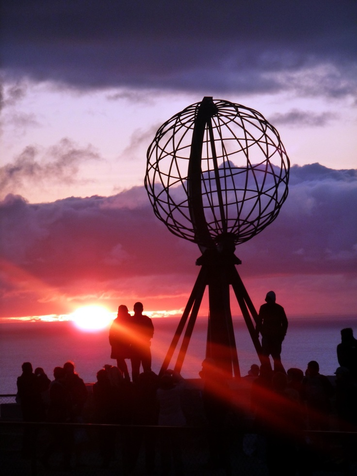 My photo, Nordkap (North Cape) Norway, northern most point in Europe, midnight sun.