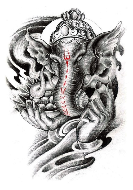 Ganesha Tattoo Design                                                                                                                                                      More