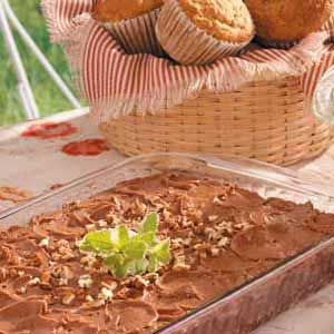 Cinnamon-Chocolate Snackin' Cake Recipe - sounds like an interesting combo of ingredients - cola, cinnamon, marshmallows! Would like to try.