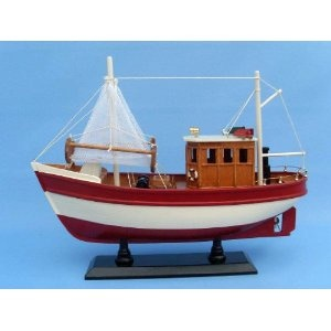 """Somethings Fishy 16"""" - Decorative Fishing Boats - Model Ship Wood Replica - Not a Model Kit (Toy)  http://www.howtogetfaster.co.uk/jenks.php?p=B002YLLNN6  B002YLLNN6"""