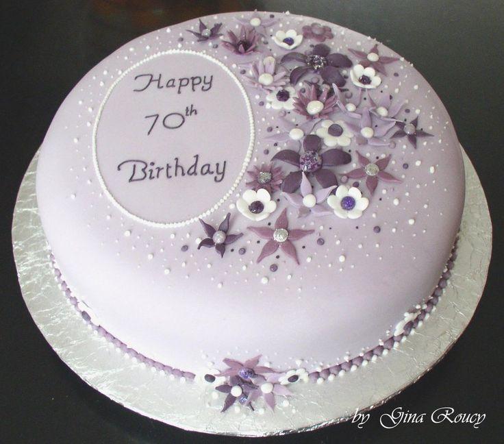 70th Birthday Cake by ginas-cakes