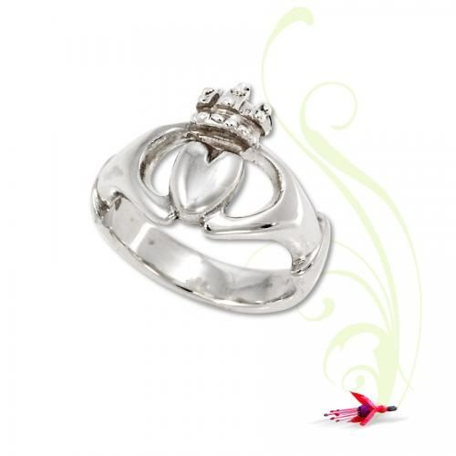 Gents 17th Century Claddagh Ring Silver
