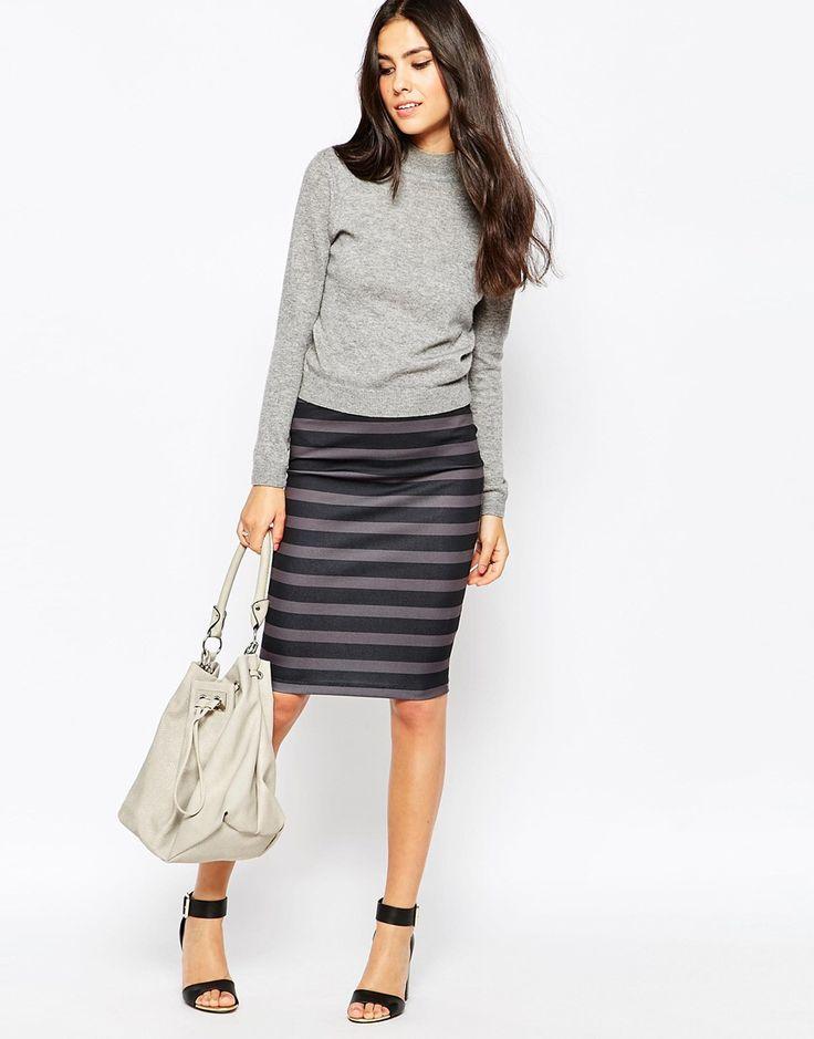 ASOS DESIGN TALL - Pantalon large plissé à rayures doux au toucher - MultiAsos Tall xp1b12Ey9v