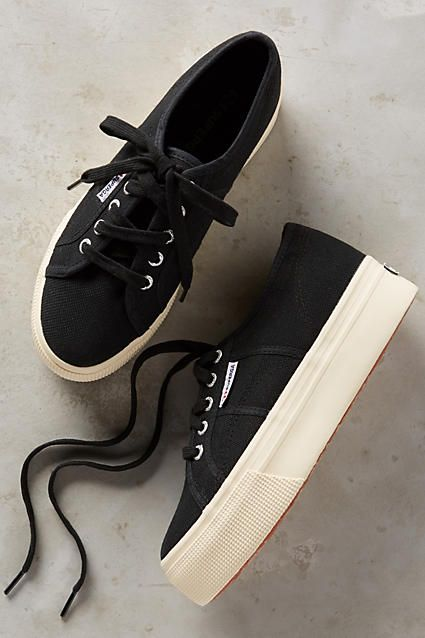 This is when its good to have a size 61/2 - 7 foot! cute sneaker!  Superga Platform Sneakers - anthropologie.com