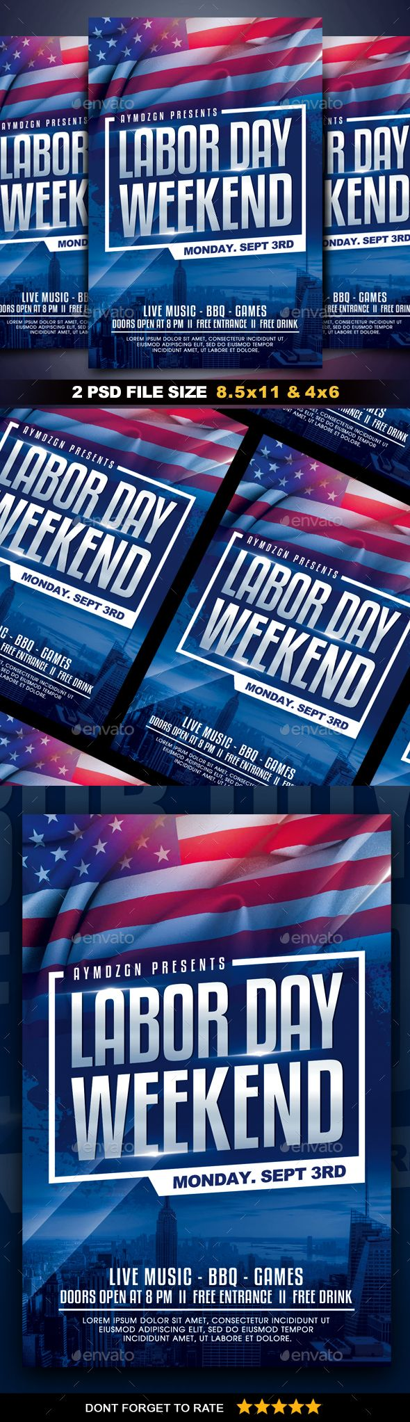 Labor Day Flyer Template Free Jpg Psd Template Net Flyer Template Flyer Halloween Flyer