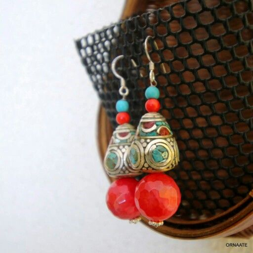 ₹ 600/- Find us @ www.facebook.com/ornaate.. Tibetan earring