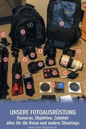 Unsere Fotoausrüstung - von den Sony- und Panasonic-Kameras über unsere Objektive, Stative und weiteres Zubehör bis hin zu den Visitenkarten. Ein Blick in unsere Fotorucksäcke.