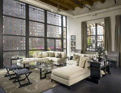 A Chicago Loft Rises to the Rafters  Voluminous ceilings and immense windows were the starting point for a renovation that takes two old apartments to new heights.