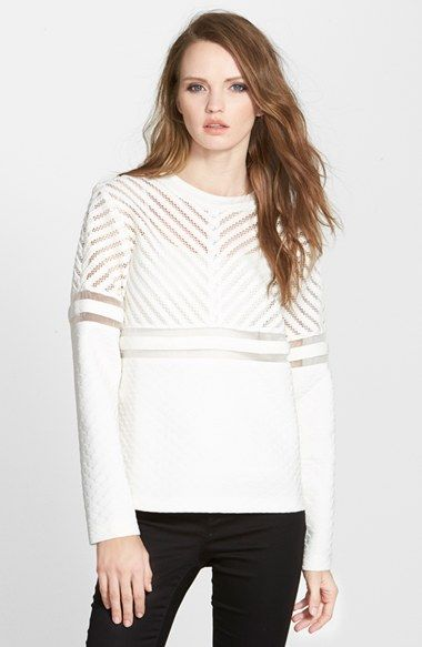 Whitney Eve 'Bottle Brush' Textured Sweater available at #Nordstrom