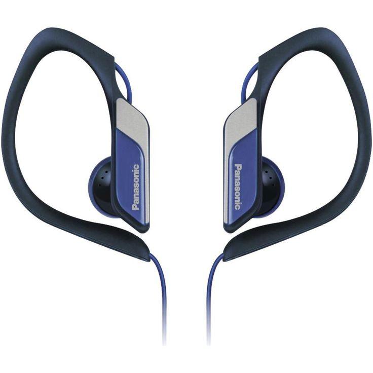 PANASONIC RP-HS34M-A HS34 Sport Headphones with Microphone (Blue)