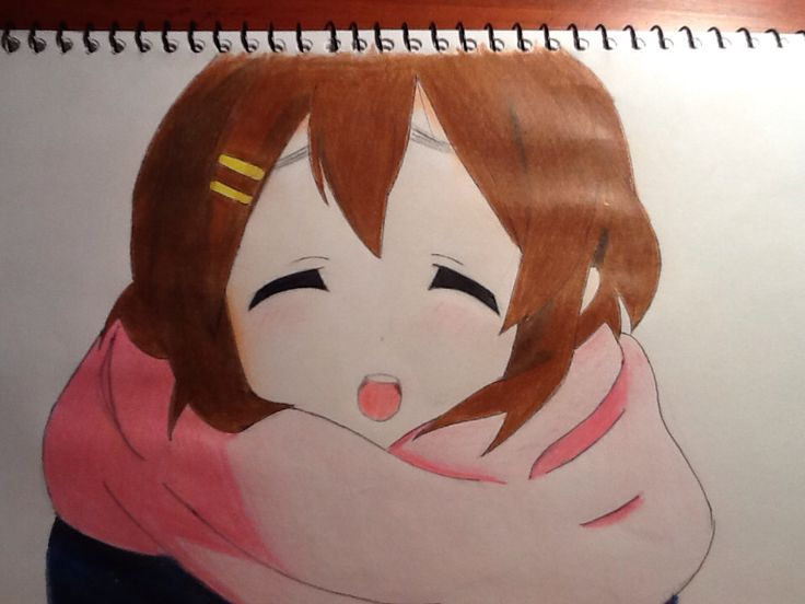 Yui-chan from K-on wearing her scarf! Please comment! By Chloe Pash