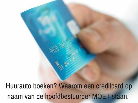 Waarom een creditcard op naam van de hoofdbestuurder moet staan bij het boeken van een huurauto. Lees het op het blog van Sunny Cars.