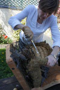 Tuto réfection d'une bergère. Stéphanie Hallaire, tapissier à Rueil Malmaison