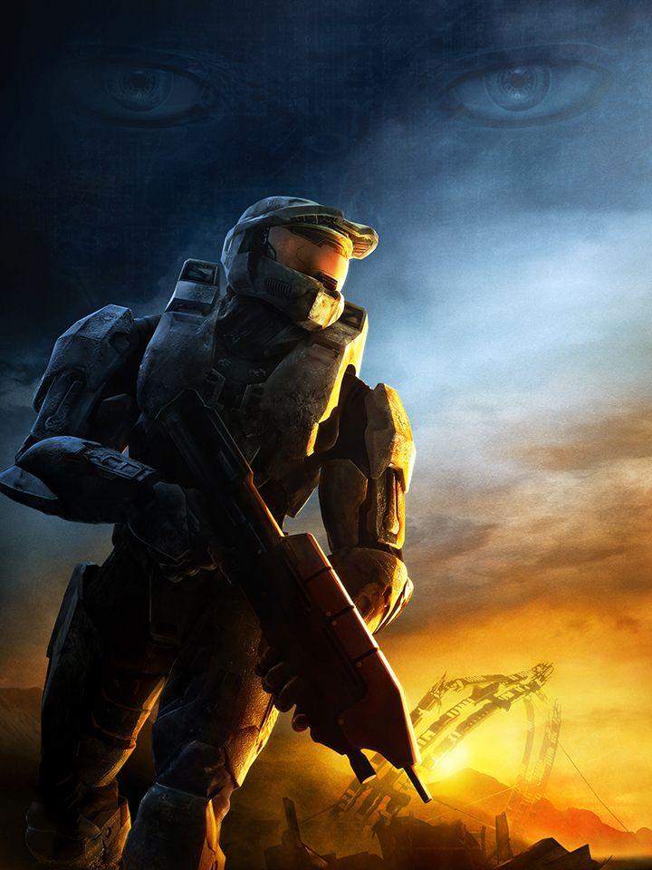 Halo 3 Poster Featuring Masterchief And Cortana Halo