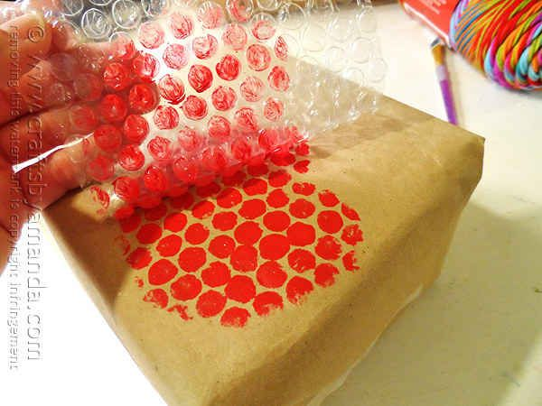You can get creative with bubble wrap.