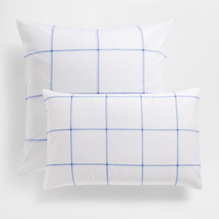 Checked Print Cotton Pillow Case