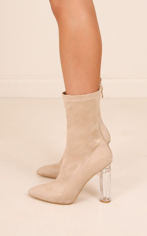 Billini Evita In Stone Suede Produced | Boots, Heels, Shoes